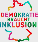 """Bild zeigt das Logo """"Demokratie braucht Inklusion"""""""
