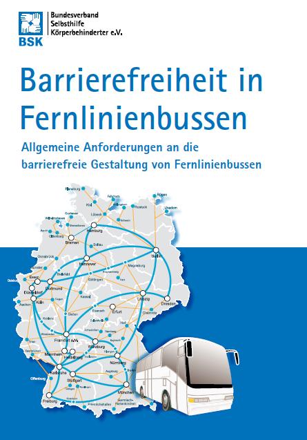 Bild zeigt das Titelbild der Broschüre - eine Deutschlandkarte und ein Bus im Vordergrund